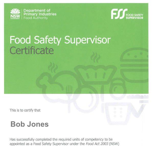 certificate safety nsw authority handling supervisor australian institute