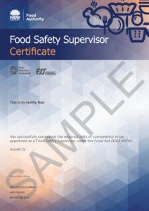 NSW FSS Certificate Sample
